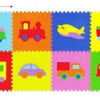Mainan Anak / Matras Edukasi Puzzle Evamat /Evamats Transportasi Mobil