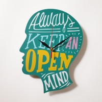 Jam Dinding Motivasi - Open Mind - Quartz sweep movement
