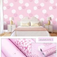 YW 5089 Bunga Dandelion Pink Wallpaper Dinding 10M X 45Cm