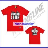 Kaos Distro Racing Line Merah