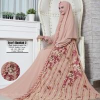 Baju Muslim Gamis Syari Pesta Wanita Bubble Hanifah 2 Terbaru