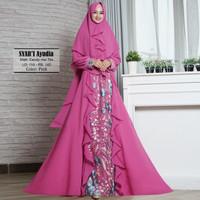Baju Busana Muslim Gamis Syari Pesta Wanita Ceruty Ayudia Terbaru