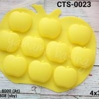 CTS-0023 Cetakan silikon coklat puding buah apel apple snow white