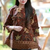 MASSIE R - Atasan Batik Blouse Batik Modern Wanita Cheongsam JUMBO XXL