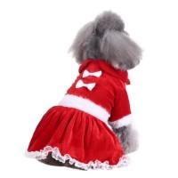 Baju anjing kucing natal kostum hewan chrismast baju pet dress anjing