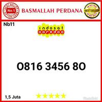 Nomor Cantik IM3 10 Digit Seri Urut 3456 0816 3467 80 Nb11