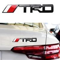 Emblem Body Mobil TRD Black dan Chrome For all toyota