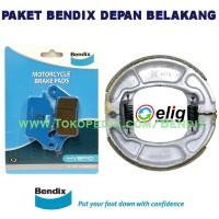 Paket Bendix Honda Beat ESP Depan Belakang - Biru