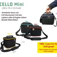Cooler Bag Mini Free 3 Ice Gel Tas Asi Mini Free 3 Ice Gel