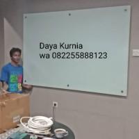 Papan tulis kaca white board 120 x 160