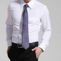Kemeja Kerja Pria Putih Polos Lengan Panjang - Hem Formal Kantor