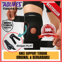 AOLIKES 1PCS Knee Support Protector + Removeble Aluminum Plate 4 Strap