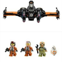 Lego Compatible Lepin 05004 Star Wars Poe's-x Wing Fighter 748pcs