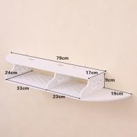 MH50922 Multifunction Floating Rack 2 layer / Rak Dinding serbaguna