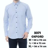 Kemeja Lengan Panjang Pria Polos Oxford Biru Muda Soft Blue Slimfit