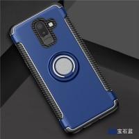 Samsung A6 Plus 2018 Magnetic Soft Case Iring Carbon Casing Armor