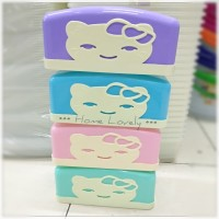 Tempat Tisu Segi Viola Cindy / Kotak Tissue Box Hello Kitty Plastik