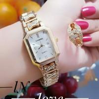 jam tangan wanita plus cincin terlaris 0504