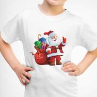 Kaos Baju Tshirt Anak Merry Christmas Santa Clous 07