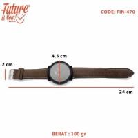 Jam Tangan Fashion Analog - Leather Strap - 2 Pilihan Warna - Fin-470