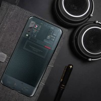 SAMSUNG GALAXY M10 M105 BUMPER CASE TPU COVER MOTIF MESIN LUXURY