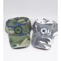 topi CONVERSE baseball CAMO ARMY LORENG full cotton 2 warna UNISEX