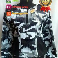 Jaket Sweater Army Loreng Salju - Salju