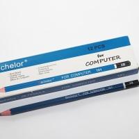 Pencil Bachelor 2B biru 101 (144 Biji)