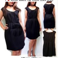 I ❤ RONSON Cap sleeve Black dress brand murah