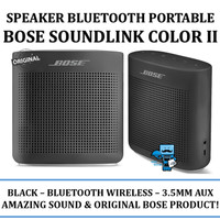 Speaker Bluetooth Portable Bose Soundlink Color II - Black Original