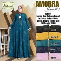 Amorra Maxi Dress Jumbo Busui Jersey Emboss Gamis Muslim Big Murah