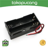 Battery Holder 2x 18650 Baterai Case Batere Box Kotak Batre Kabel