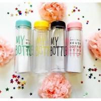 TERMURAH Botol my bottle bening gratis pouch kapasitas Limited
