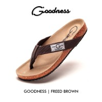 SANDAL CASUAL GODNESS FREED BROWN