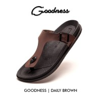 SANDAL JEPIT GOODNESS DAILY BROWN
