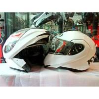 Terlaris Helm KYT RRX Modular Full Face White Fullface Double Visor