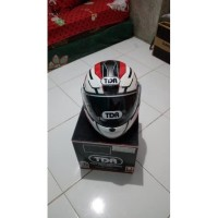 Helm ukuran L helm modular TDR fullface double visor corak hitam
