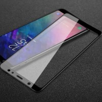 Case Samsung A6 PLUS 2018 Ipaky Carbon Gratis Tempered Glass Full -