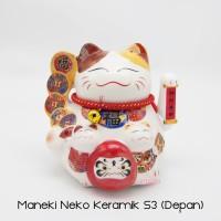Maneki Neko Lucky Cat Kucing Hoki Small 3