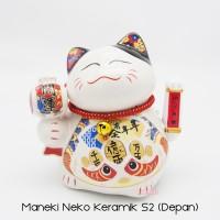 Maneki Neko Lucky Cat Kucing Hoki Small 2