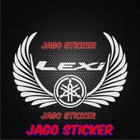 Cutting Sticker / Stiker Windshield Motor Yamaha LEXI Sayap Wings
