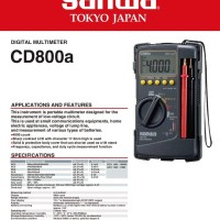 Multitester Original Sanwa CD800a Digital Multimeter CD800 a