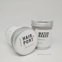 HAIR PORT WATER BASED STRONG HOLD POMADE 3.5OZ FREE SISIR SAKU