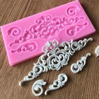 Seksi Penjualan DIY Kue Gula Antik Pereda Border Silikon Cetakan Fonda
