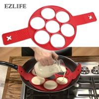 Ezlife Telur Goreng Pancake Pembuat Cetakan Silikon Bentuk Non-Stick O