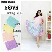 Daster payung batikn/ baju tidur / daster menyusui / daster love