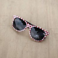 Vans Glasses Checkerboard Red