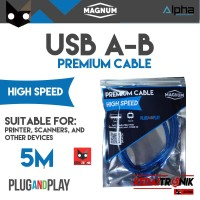 Kabel USB A-B 5M MAGNUM Printer Scanner AB 5 Meter ORIGINAL HQ Premium