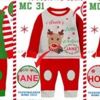 piyama anak pajamas kids christmas natal santa kostum