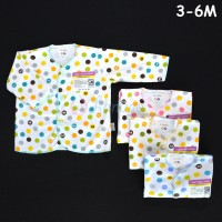 LIBBY 4 Pcs Baju Lengan Panjang Bayi/Baby Polkadot (3-6M)